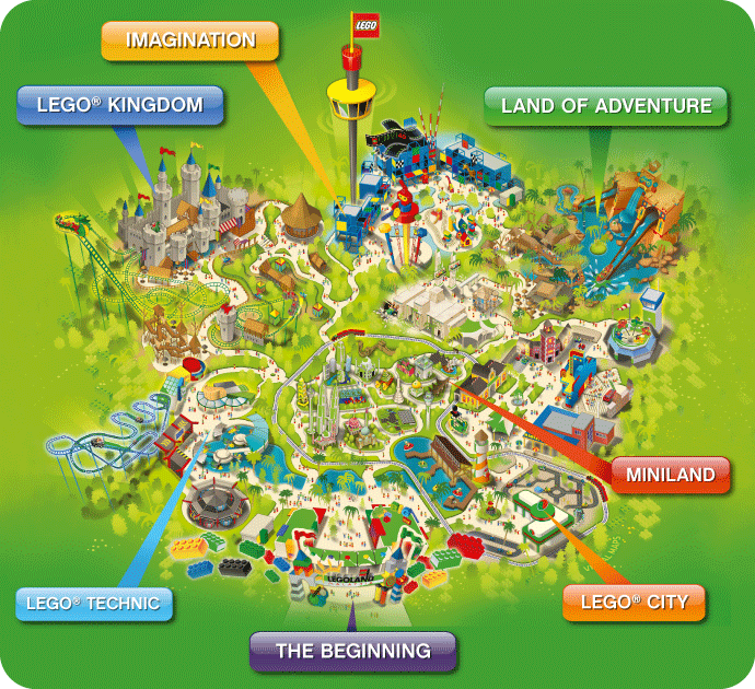 LEGOLAND Malaysia Theme Park Map Wow didnt know about this Love