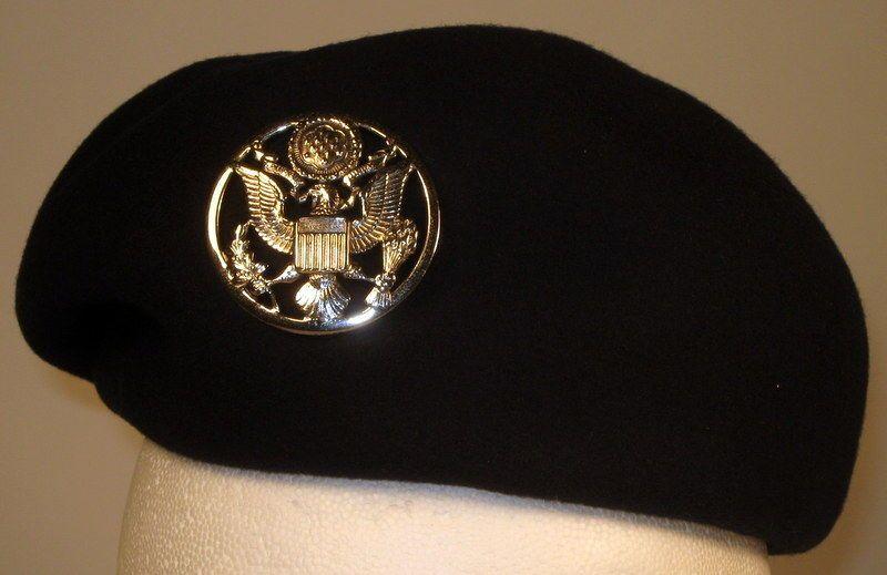 USAF US Air Force Female Enlisted Dress Blues Beret Shiney