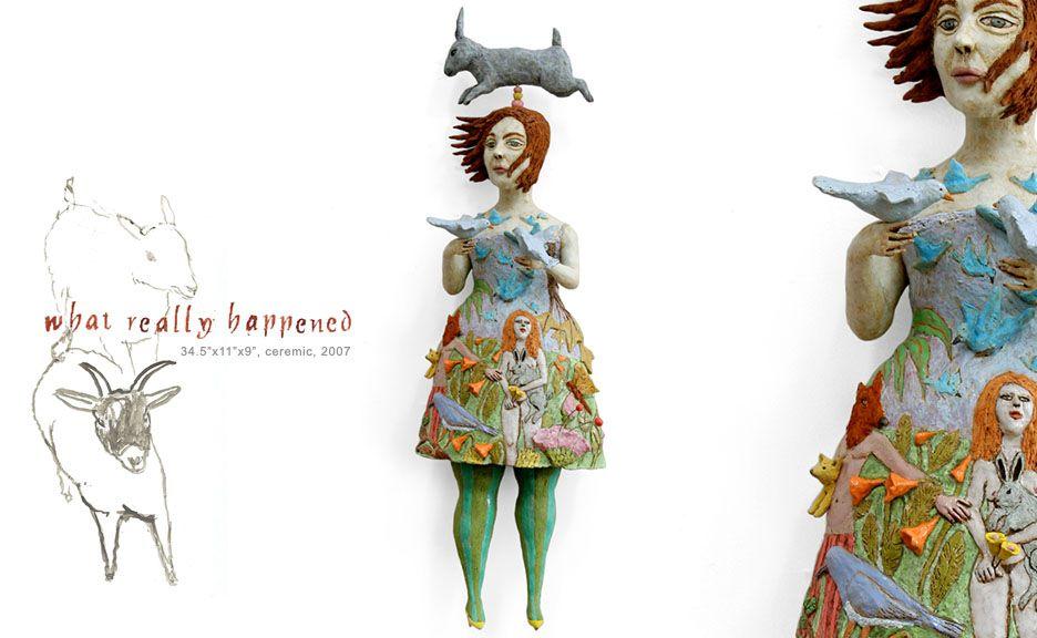 flora y fauna ceramic doll sculpture