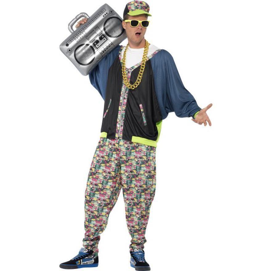 Men S 80 S 90 S Hip Hop Rapper Fancy Dress Costume 01 43198 Hip Hop Costumes 80s Party Outfits 1980s Fancy Dress
