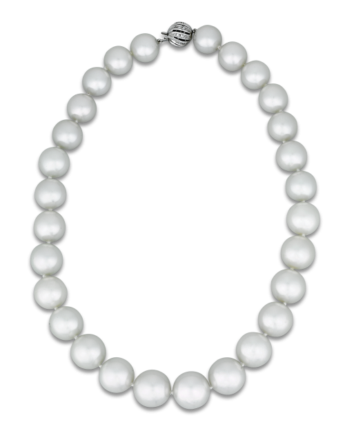 White South Sea Pearl Necklace Twenty Nine Creamy White South Sea Pearls Comprise Th South Sea Pearl Necklace Classic Pearl Necklace South Sea Pearls Earrings