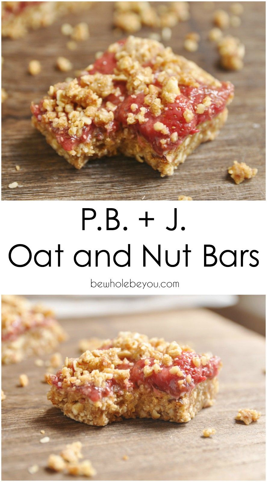 PB + J Oat and Nut Bars. Take your Peanut Butter and Jelly to a whole new level!