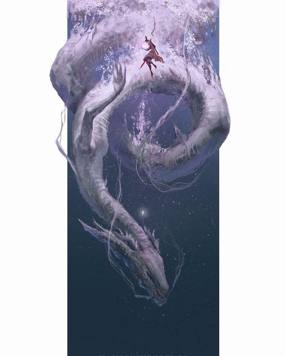 Sw Engineer Music Buff Gamer On Instagram Divine Dragon Wolf Sekiro Shadows Die Twice Check The Story Fo Dark Souls Art Bloodborne Art Samurai Artwork