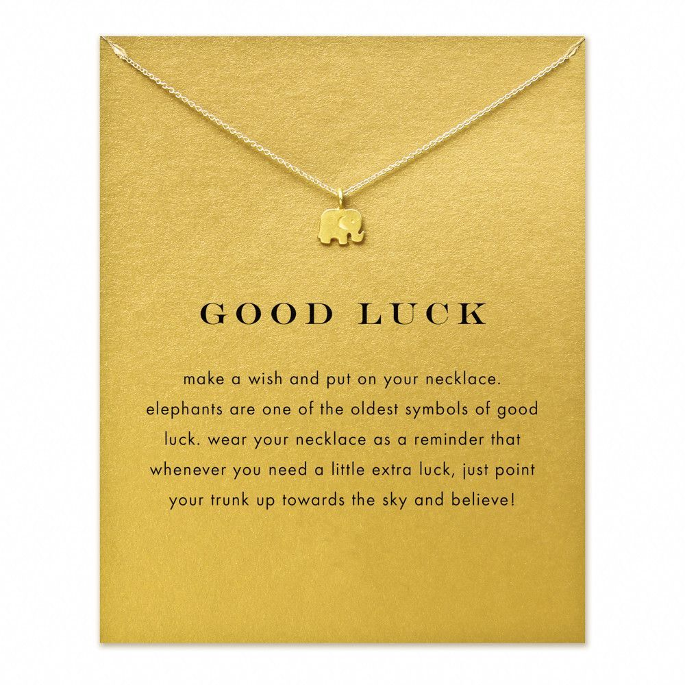 Good luck elephant pendant necklace make a wish fashion beauty