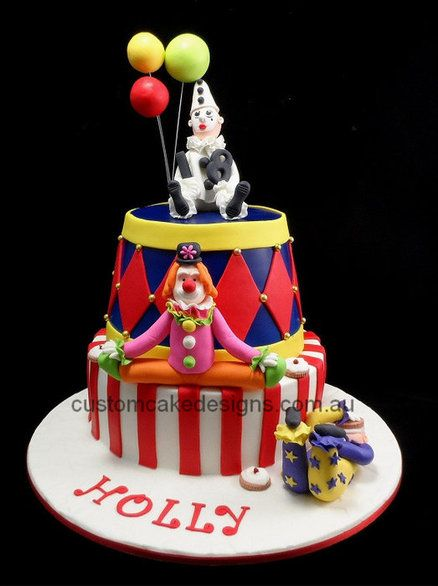 Circus Clown Cake Cake by customcakedesignsoz Cake Circus