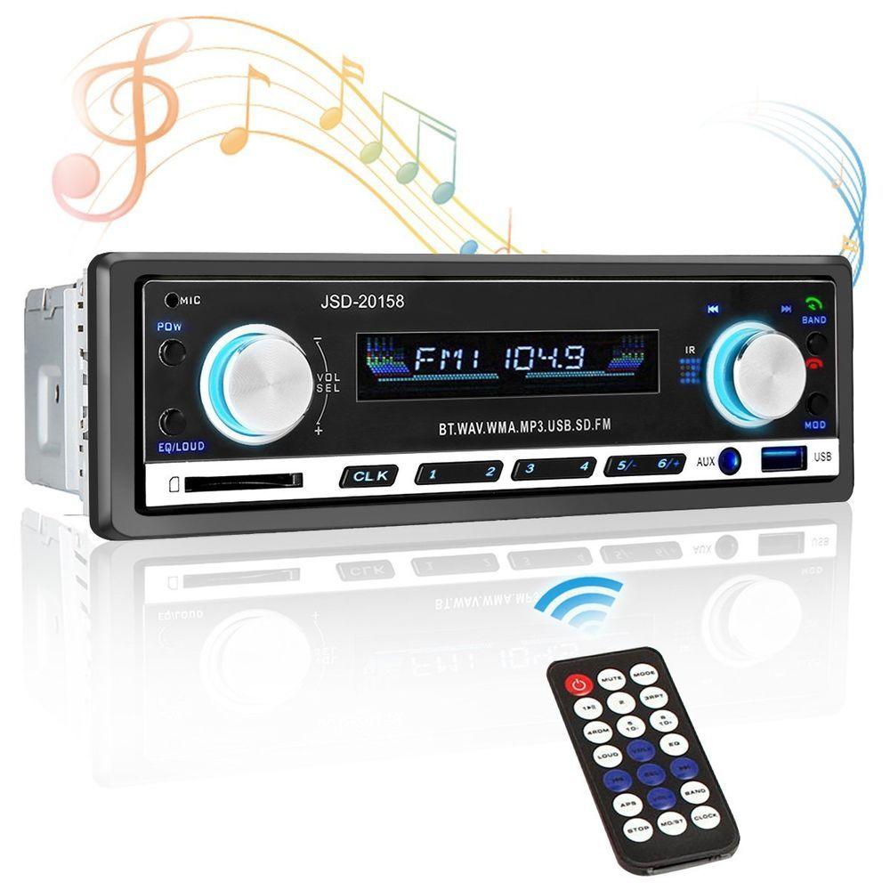 Bluetooth Car Stereo Audio InDash FM Aux Input Receiver