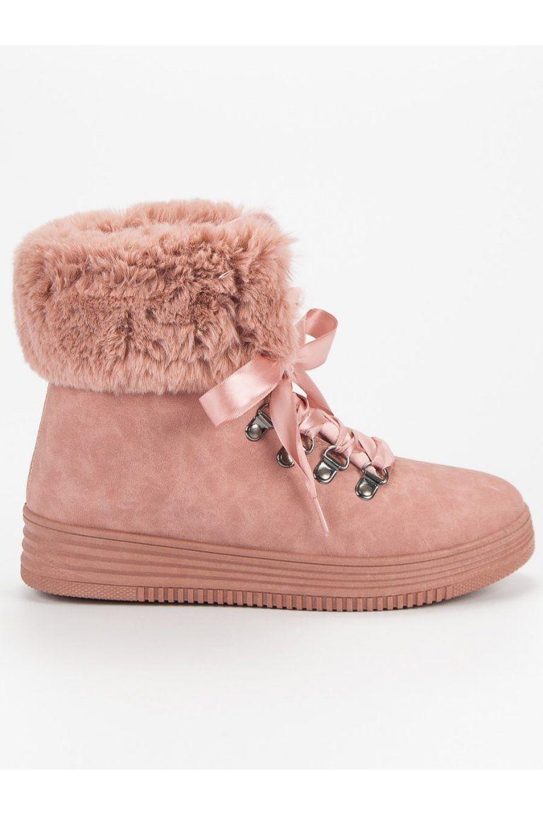 4043520d9eeb Ružové snehule s kožušinou CnB