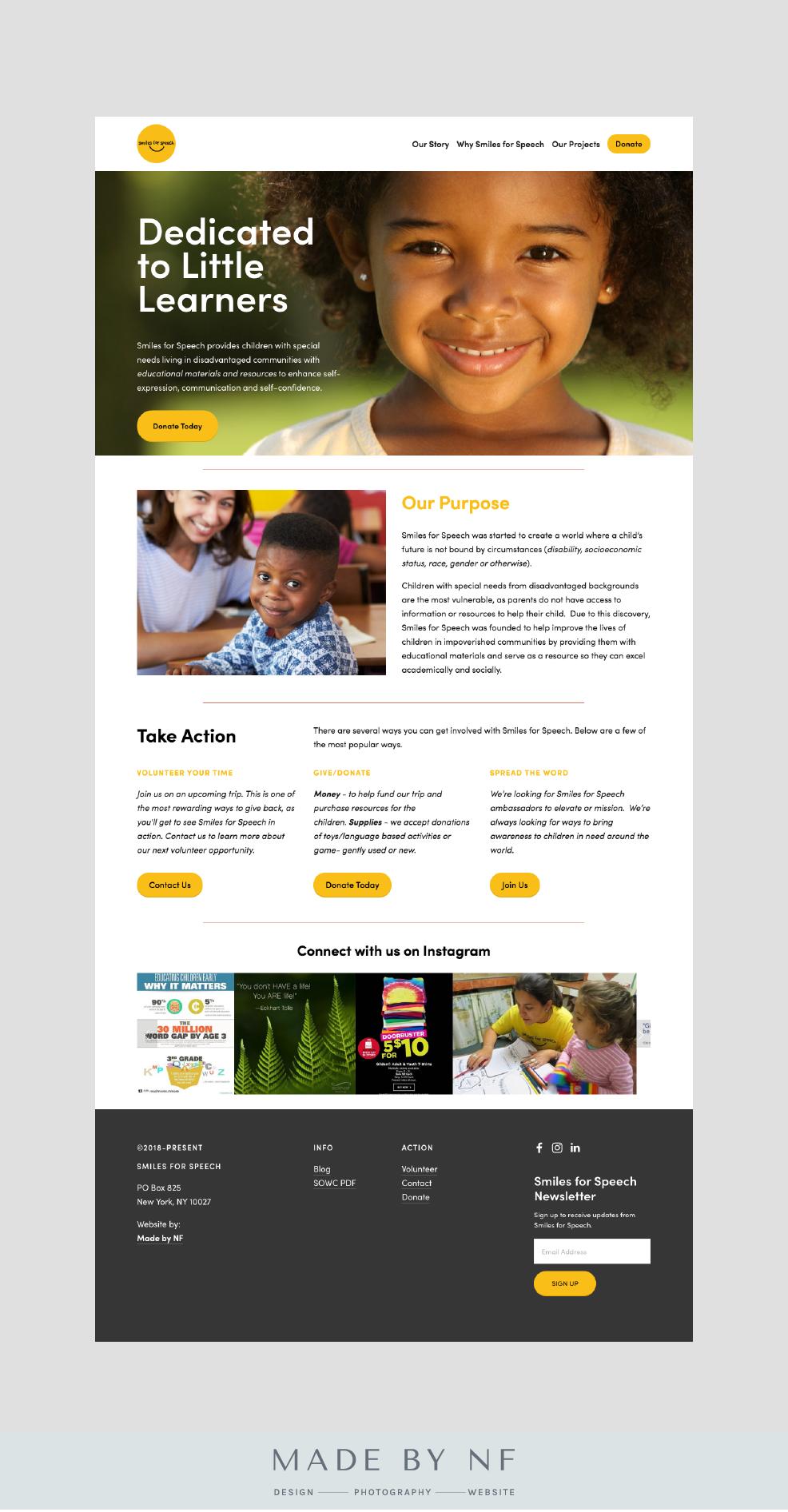 Squarespace Website Design For Non Profit Smiles For Speech Squarespace Websitedesign Non Nonprofit Website Design Web Design Nonprofit Fun Website Design