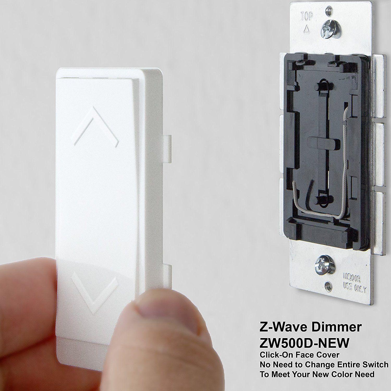 Enerwave ZW500D-W Z-Wave Wireless Light Dimmer Switch ...
