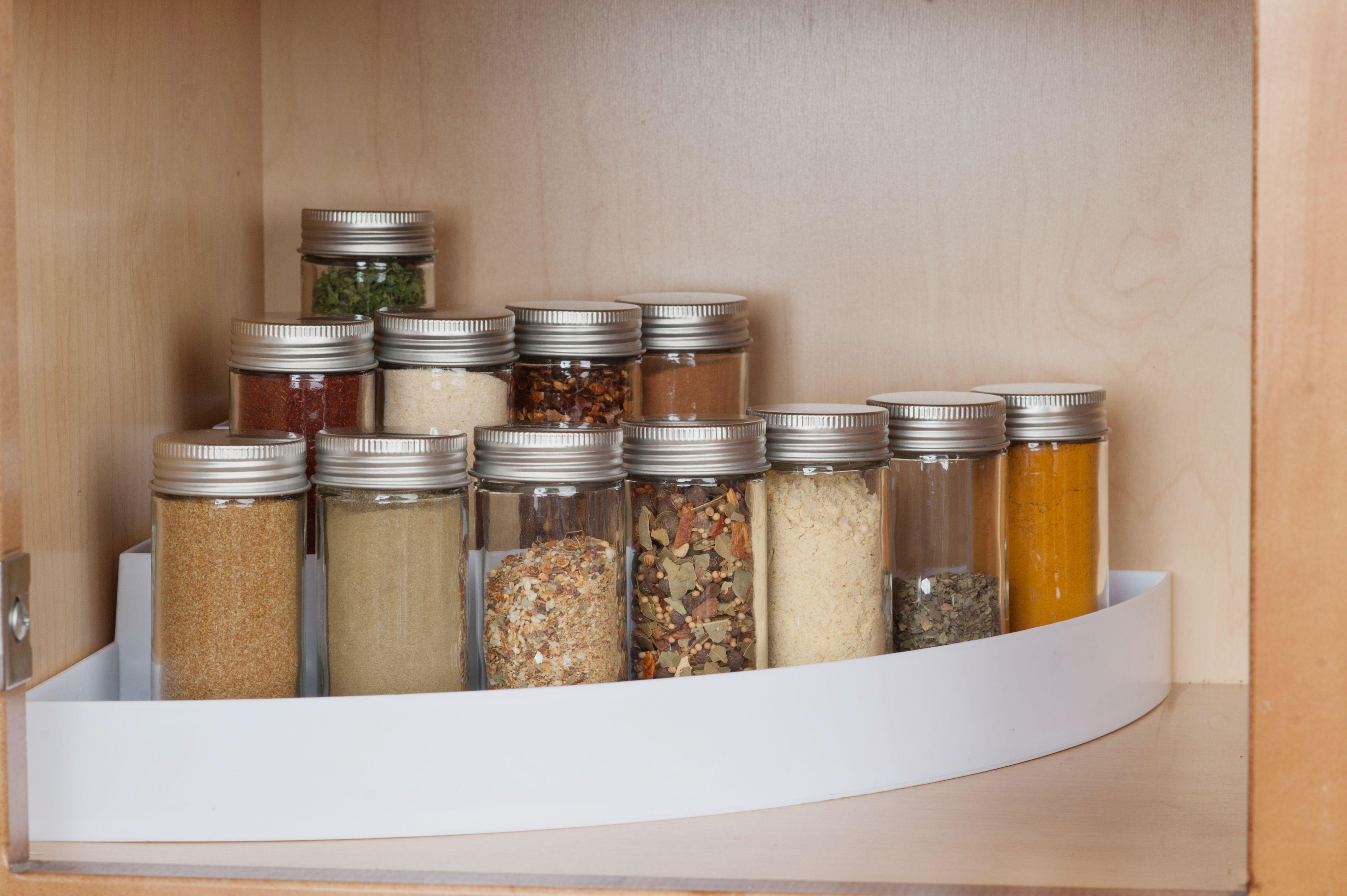 Kd Organizers 3 Tier Kitchen Cabinet Spice Rack Corner Organizer Tiered Storage For Spices In Pantry Or Cu Cabinet Spice Rack Spice Storage Cupboard Shelves