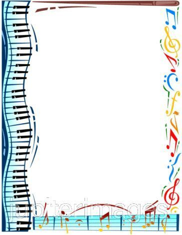 Free Music Borders Clip Art | Favorite Piano Playing Tips ...