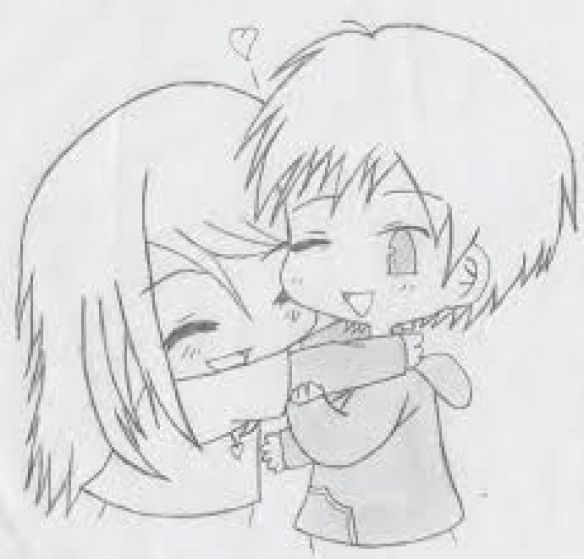 Resultado De Imagen Para Cute Chibi Couple Hugging Drawing
