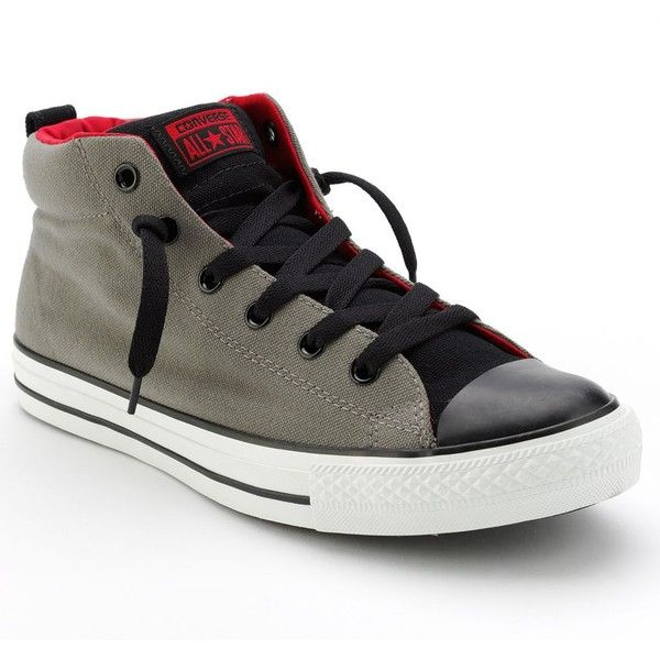 finest selection 0aa93 7c225 Converse Chuck Taylor All Star Street Mid-Top Shoes - Unisex ( 60) ❤ liked  on Polyvore featuring shoes, sneakers, converse, grip shoes, star shoes, ...