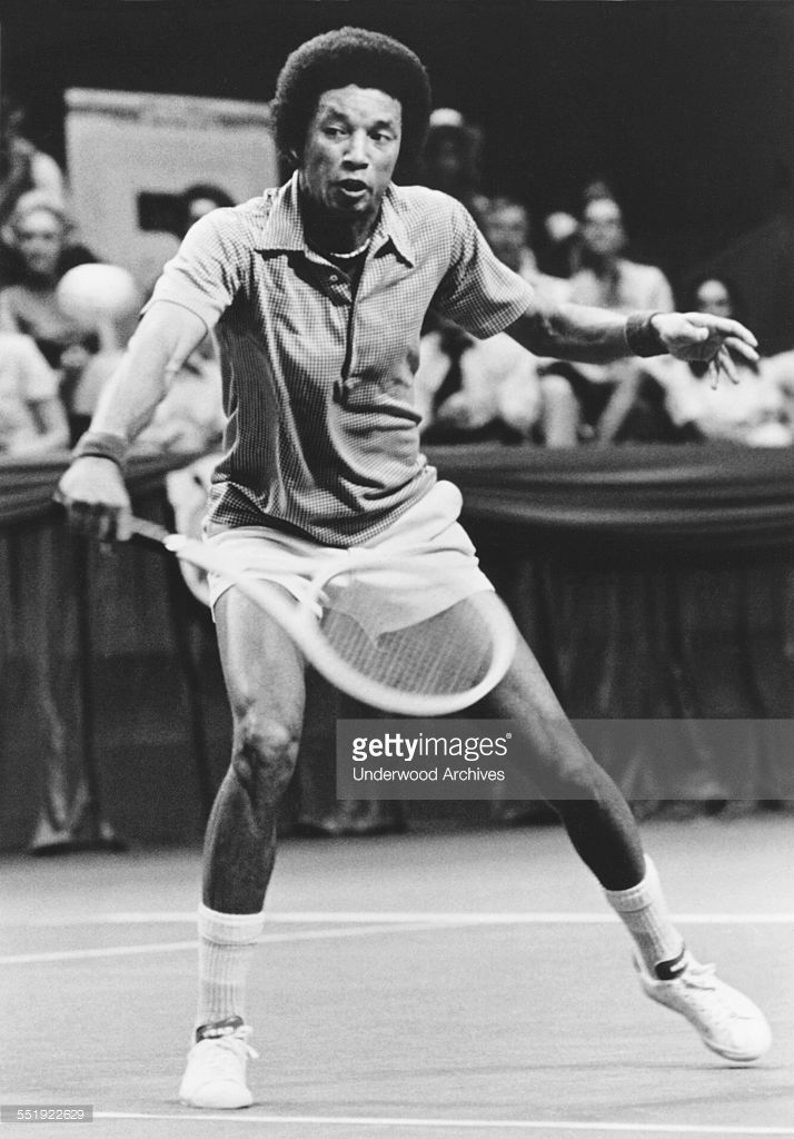 United States Tennis Champion Arthur Ashe During World Championship Tennis Champion Grand Slam Tennis World Championship