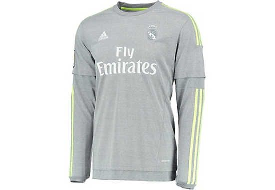 save off 8c817 42fee adidas Long Sleeve Real Madrid Away Jersey 2015-16 | Real ...