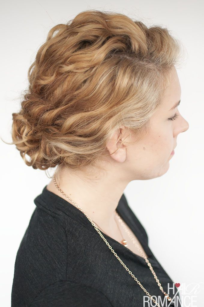Super Easy Updo Hairstyle Tutorial For Curly Hair Easy Curly Updo