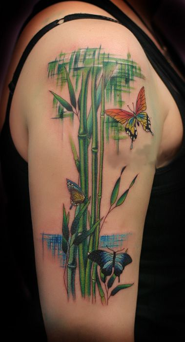 Bamboo Tattoo Bamboo Tattoo On Shoulder Tattoo Ideas Pinterest