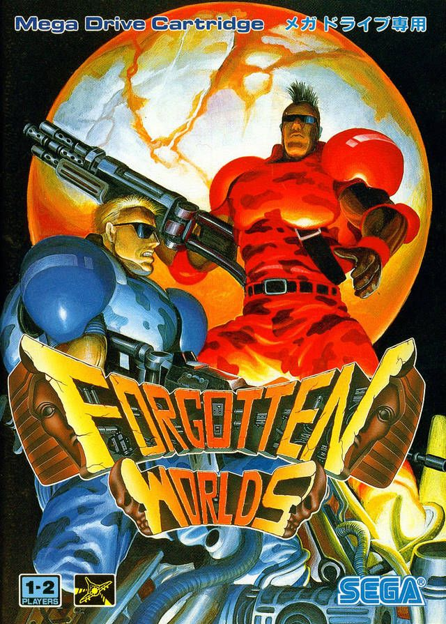 Forgotten Worlds - Sega Mega Drive Box Front | Video Game