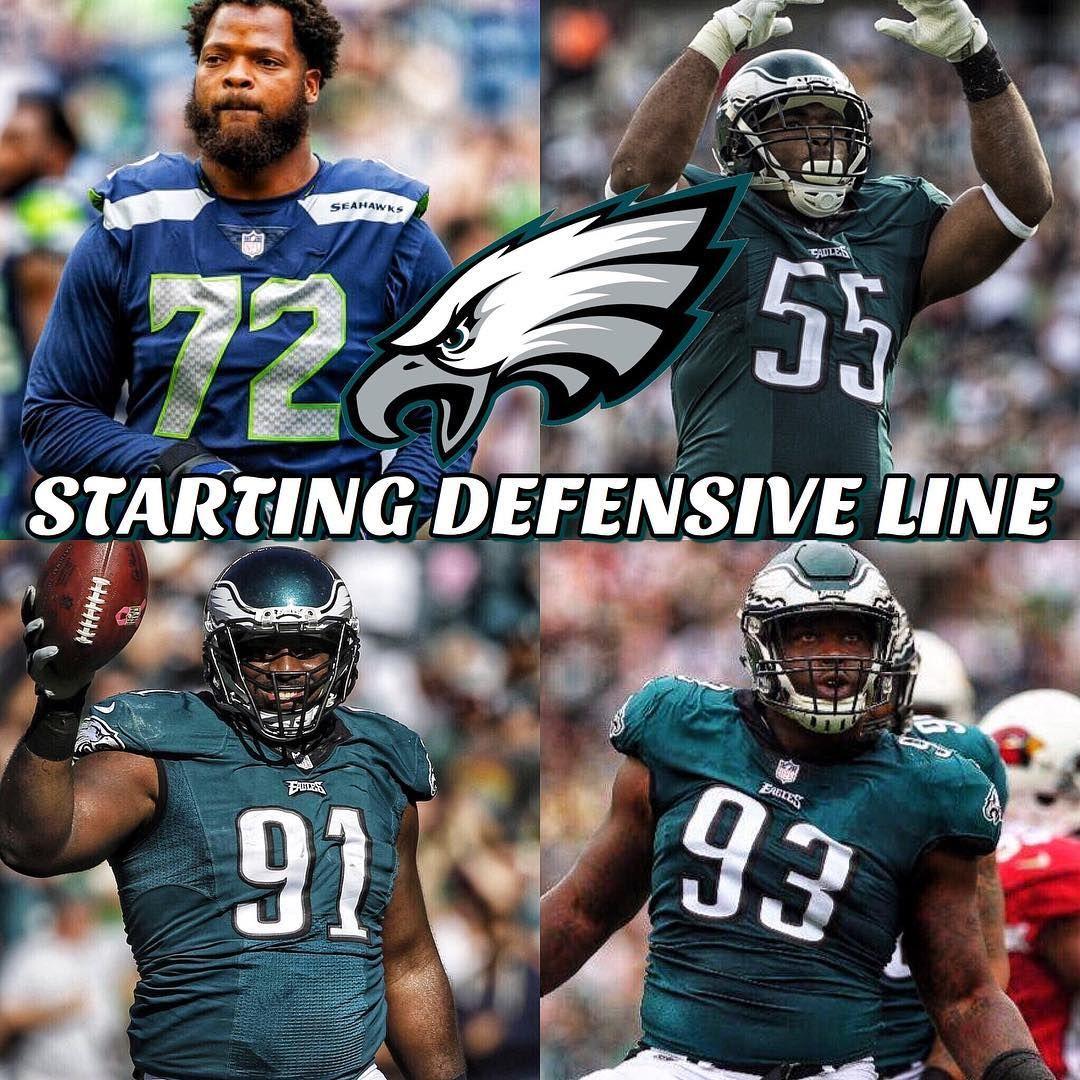 This is the Eagles starting defensive line as of now for 2018  DE Michael  Bennett DT Tim Jernigan DT Fletcher Cox DE Brandon Graham Backup  Derek  Barnett ... 883549cfd
