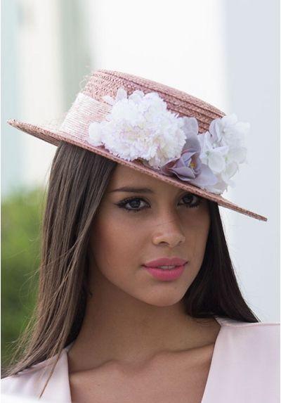 BlancasMad Y Hatter Flores Canotier Sombreros Nude w80nOkP