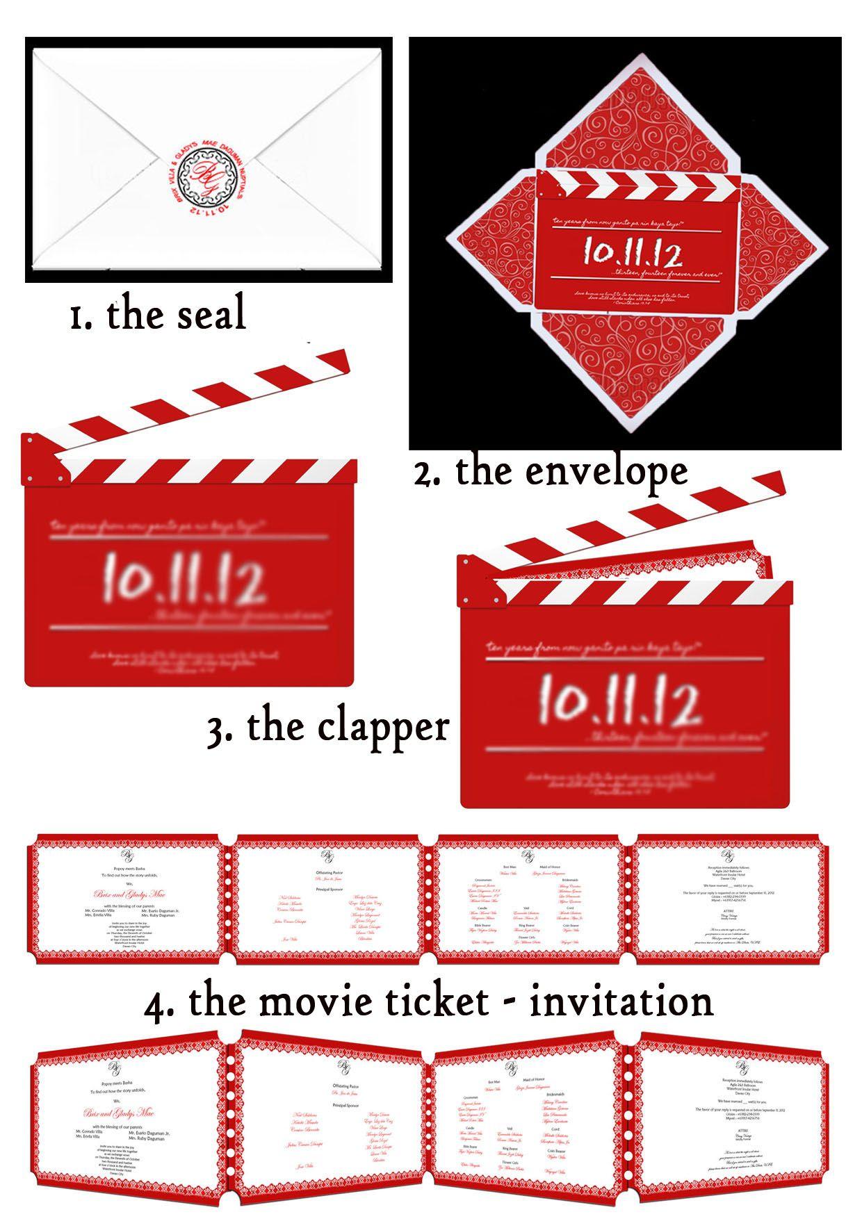 a classic-vintage (movie) themed wedding invitation | Movie wedding ...