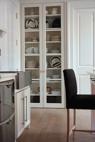 Built In Glass Cabinets Kitchen Cabinet Design Glass Front