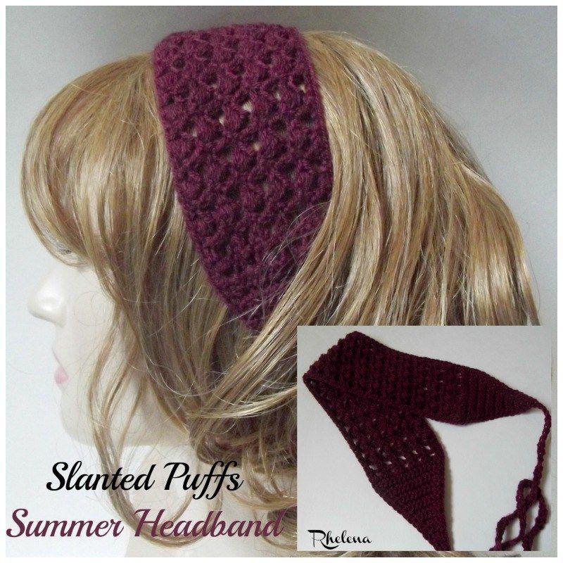 Slanted Puffs Summer Headband   Pinterest   Caballeros, Trapillo y Damas