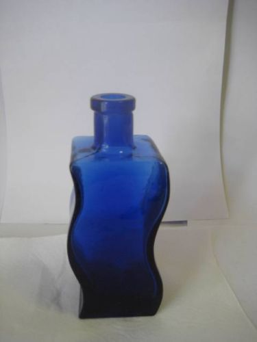 Wavy-Blue-Glass-Vase-7-1-2-Inches-Tall-By-3-Inches-Wide