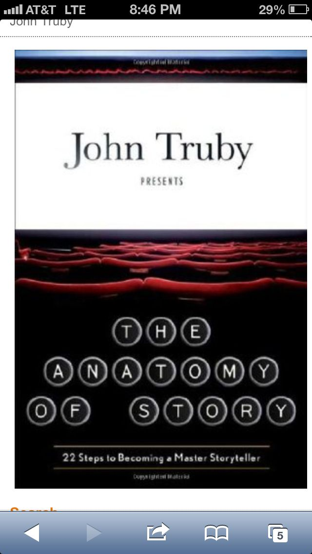 The Anatomy of Story by John Truby (http://www.amazon.com/gp/aw/d ...