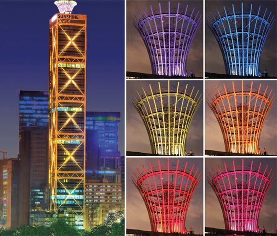 Sunshine Tower, Mumbai. Lighting Design by Design Matrix