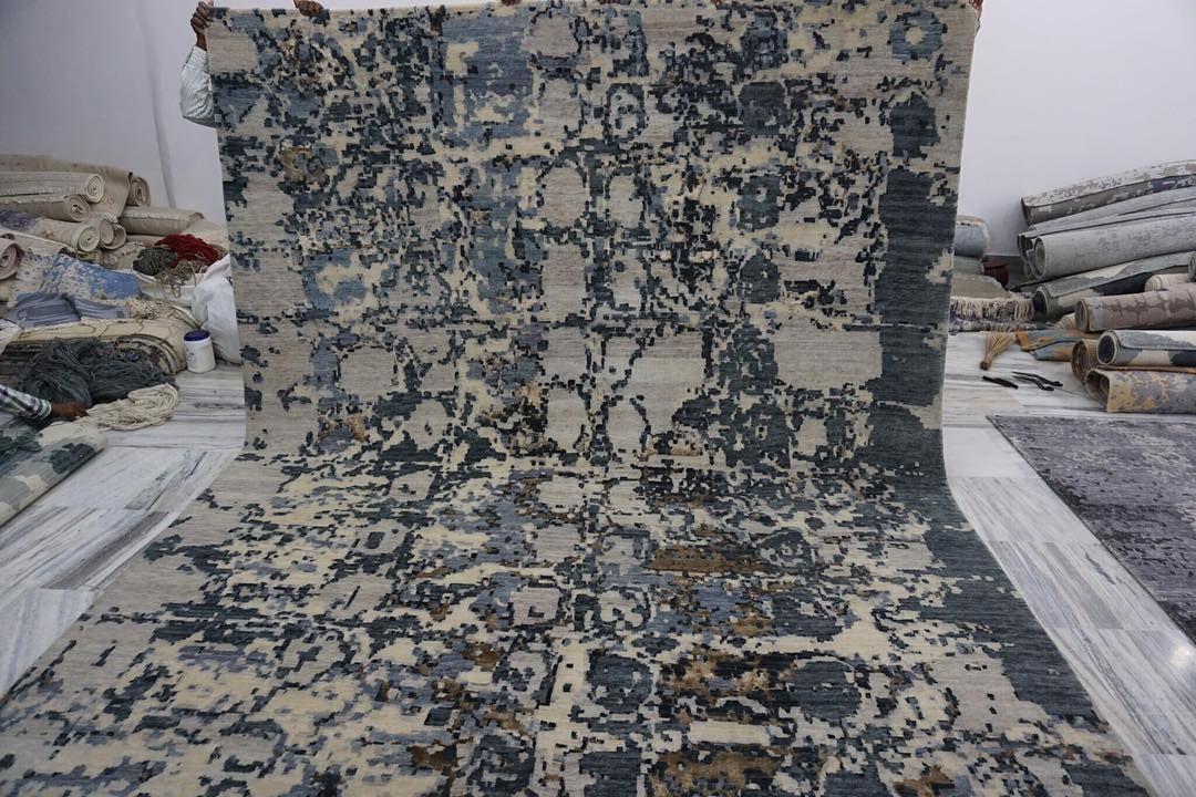 OTS IMPEX- Handmade Carpets on Instagram: #contemporarydesign #contemporaryrug #handknottedrug...