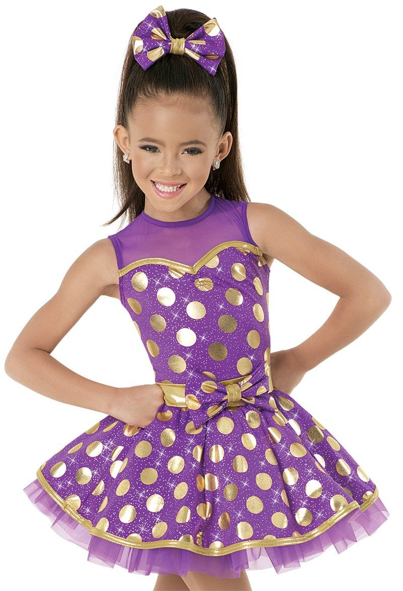 Tinies Tap 2016 Weissman™ | Foil Dot Illusion Mesh Dress - Friend ...