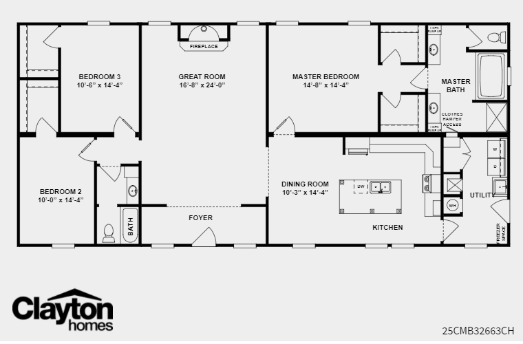 Clayton Homes Frontier In 2019 Mobile Home Floor Plans