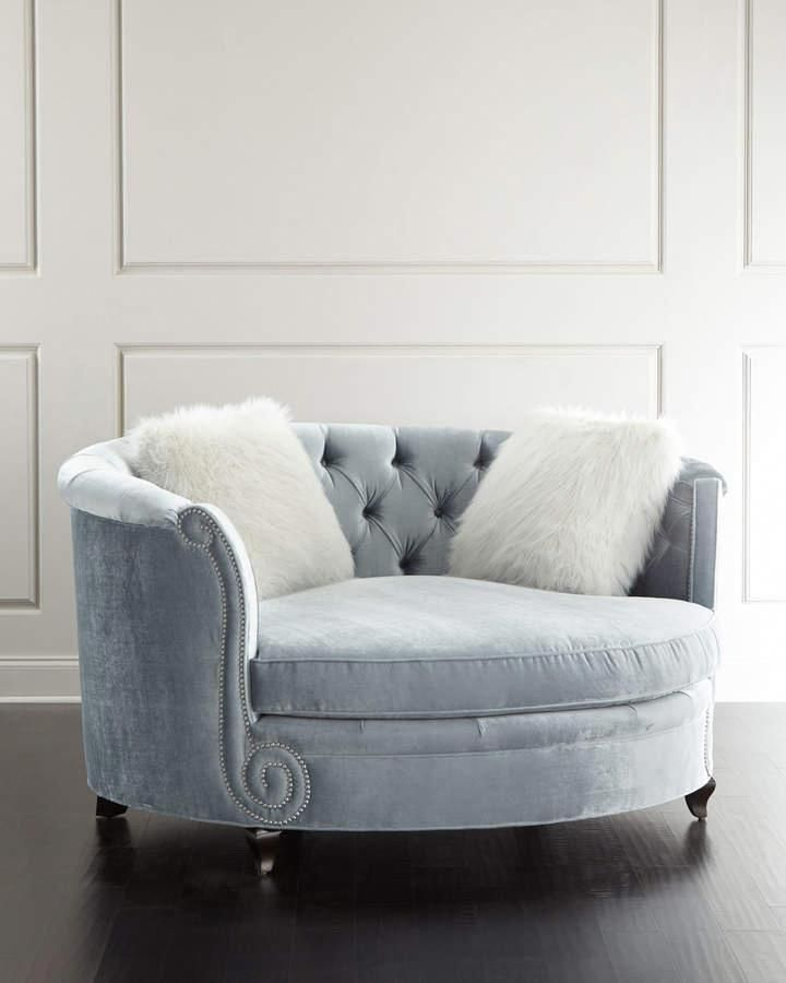 Haute House Harper Tufted Cuddle Chair is part of Living furniture - Shop Harper Tufted Cuddle Chair from Haute House at Horchow, where you'll find new lower shipping on hundreds of home furnishings and gifts