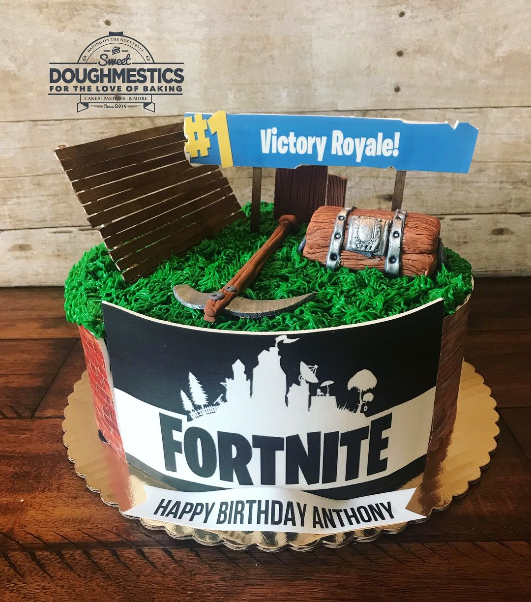 Fortnite cake by Sweet Doughmestics | Boy birthday parties ...