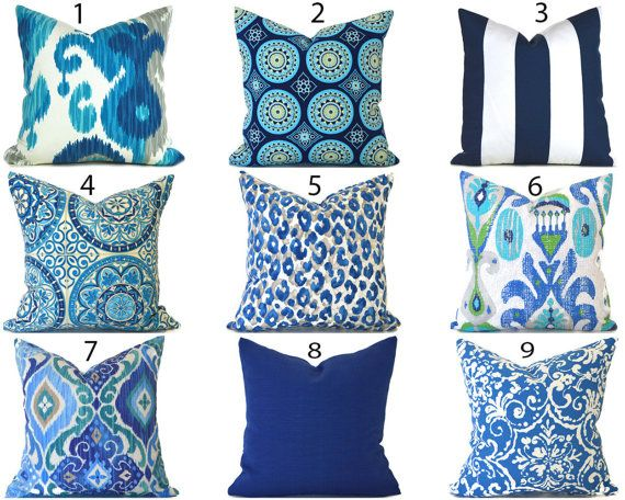 Blue Outdoor Pillows Any Size Outdoor Cushions Outdoor Pillow Covers Decorative Pillows Outdoor Cush Outdoor Pillow Covers Blue Outdoor Pillows Outdoor Pillows