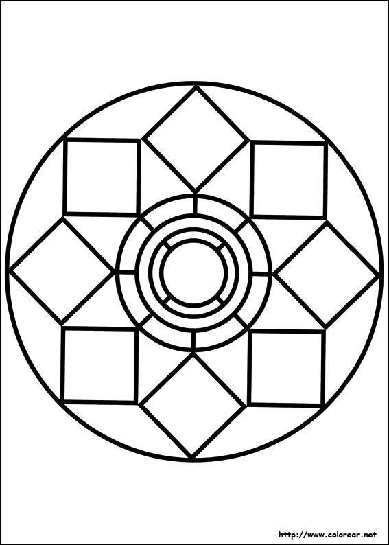 Dibujos Para Colorear De Mandalas Mandalas Para Colorear Mandala Sencilla Mandalas Geometricas