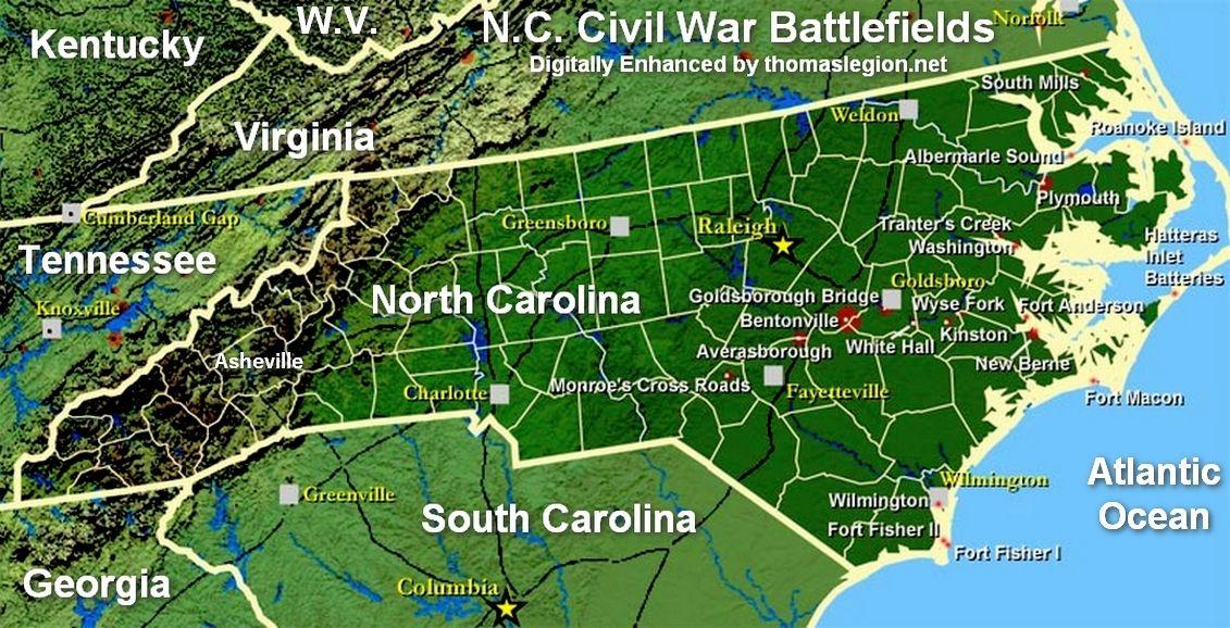 North Carolina Civil War History and Battles Civil war