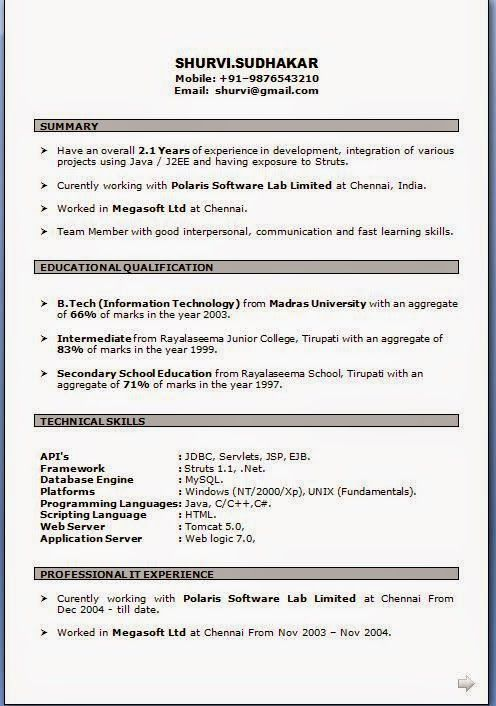 graphic design resume samples Sample Template Example of - j2ee jsp resume