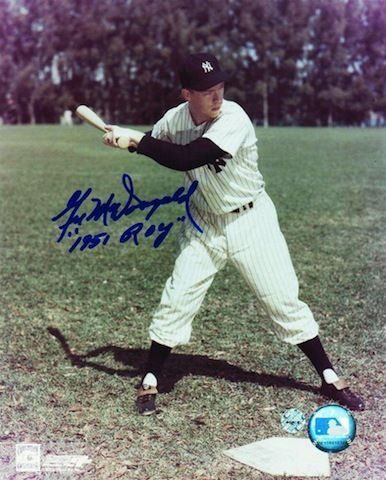 """Autographed Gil McDougald New York Yankees 8x10 Photo Inscribed """"""""1951 ROY"""""""""""
