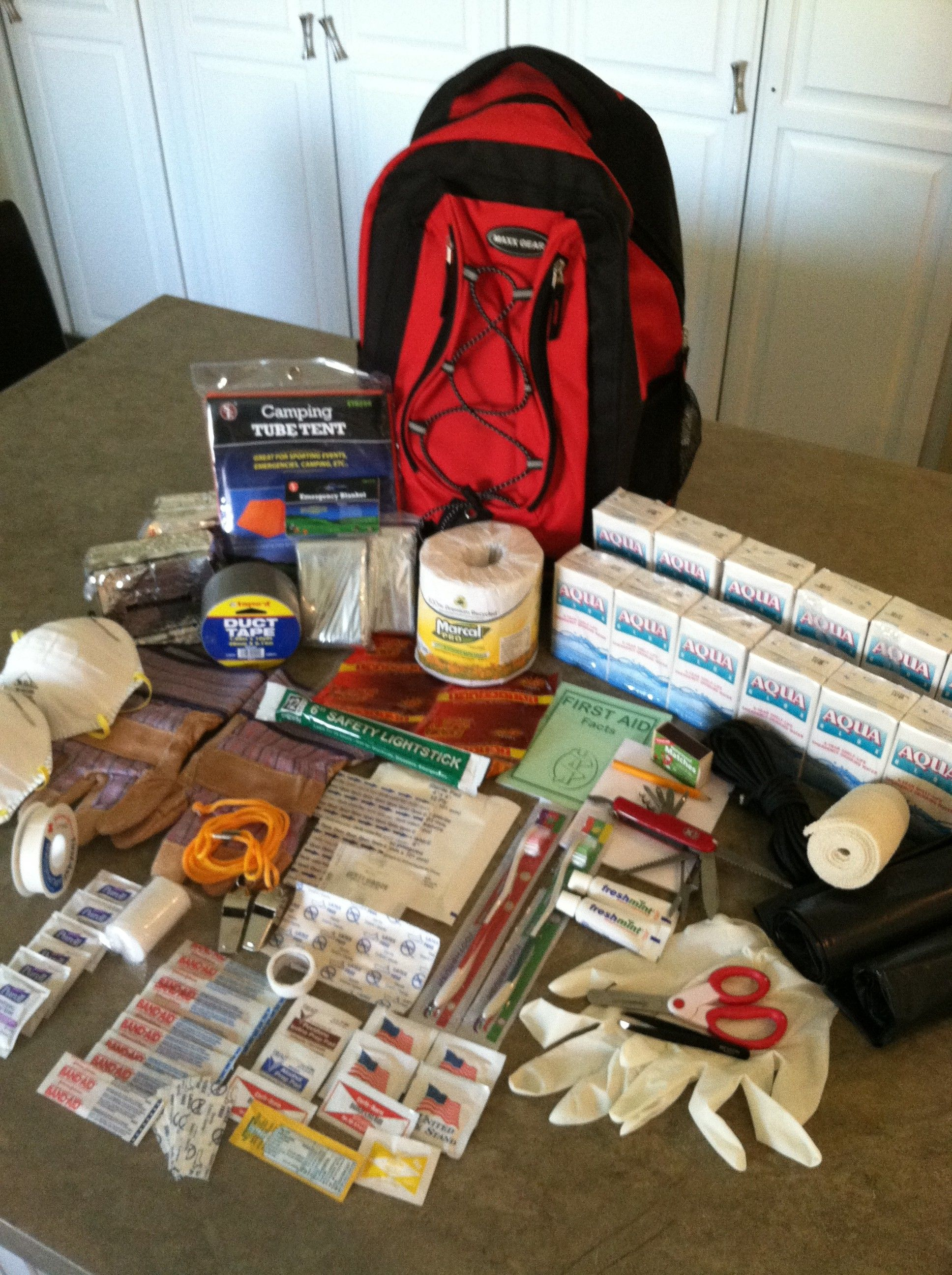 Your GET N GO BAG Contents And Lists For A Car Emergency Bag Work