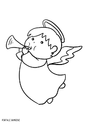 Disegni Di Angeli E Angioletti Da Stampare E Colorare Portale