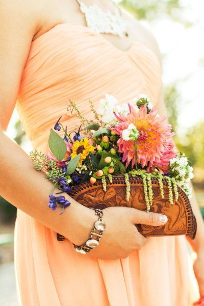 bridesmaid floral clutches