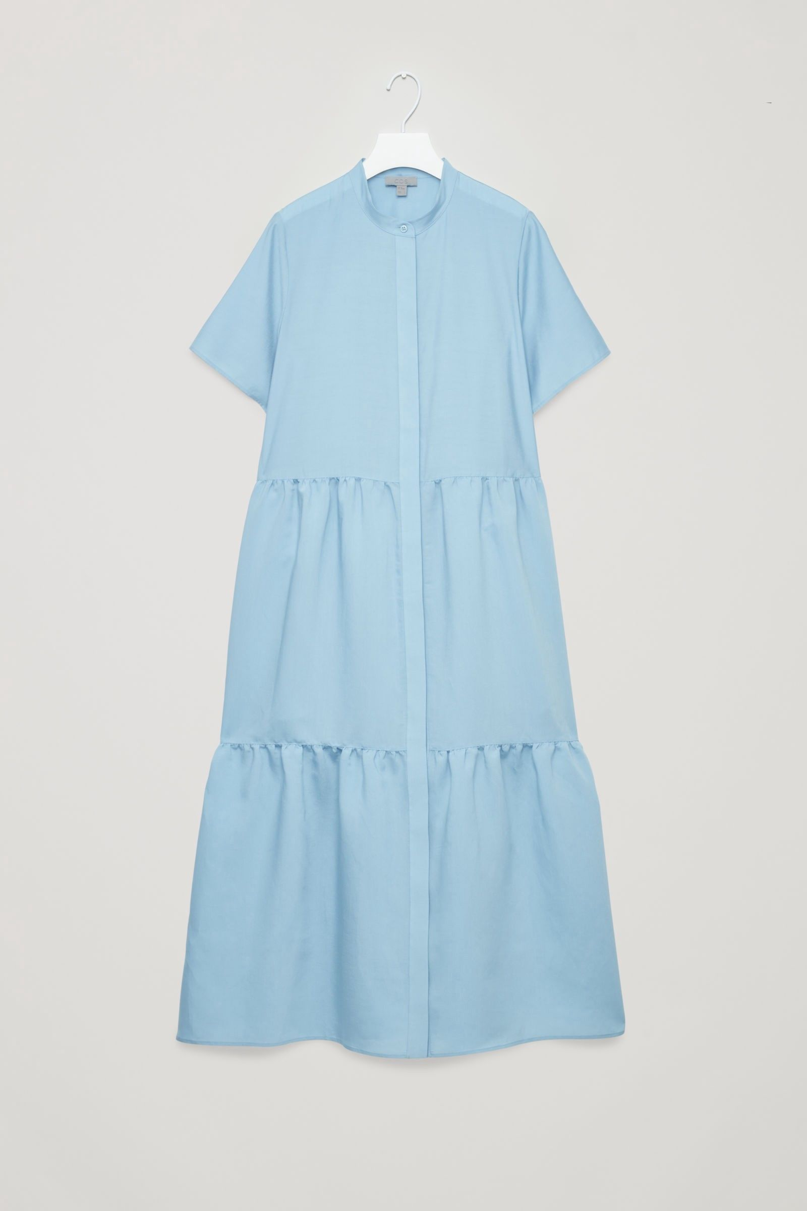 5b3198f1f1cd Cos Short-Sleeved Gathered Dress - Light Blue 12 in 2019 | Products ...