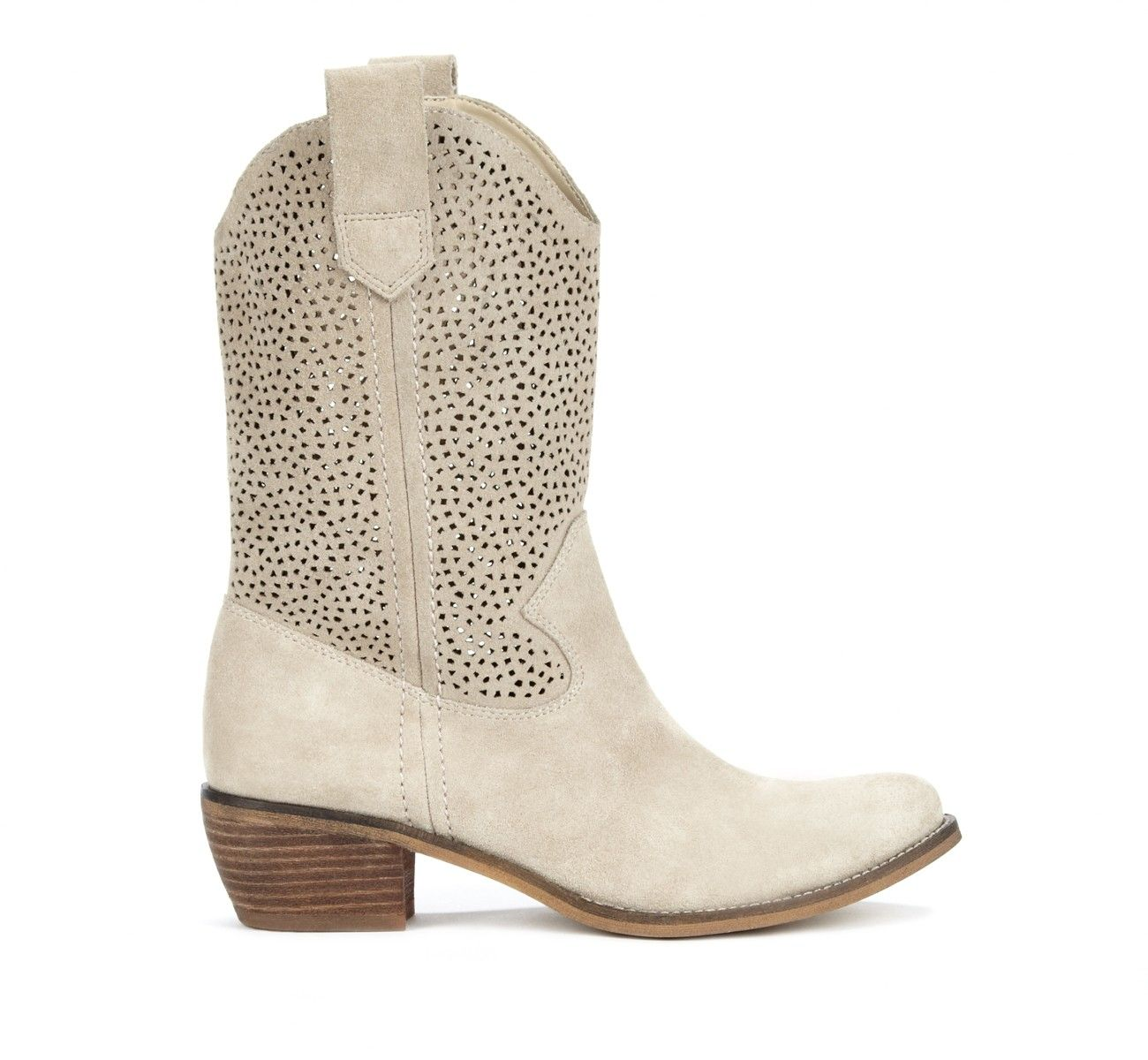 great short cowboy boots with perforated leather... nice for warmer weather