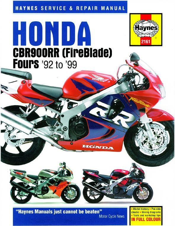 Haynes M2161 Repair Manual For 1992 99 Honda Cbr900rr Fireblade Motorfietsen