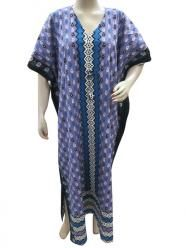 Muummuu Dress Sky Purple Cotton Caftan Resort Wear Moroccan Kaftan  $23.99
