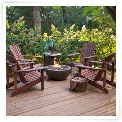 belham living richmond deluxe adirondack fire pit chat set