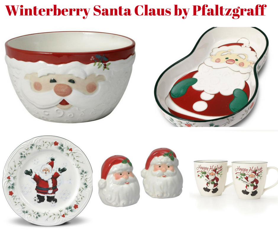 christmas kitchen decorations pfaltzgraff winterberry jolly santa salad plate perhaps america s best loved holiday pattern salad plate made