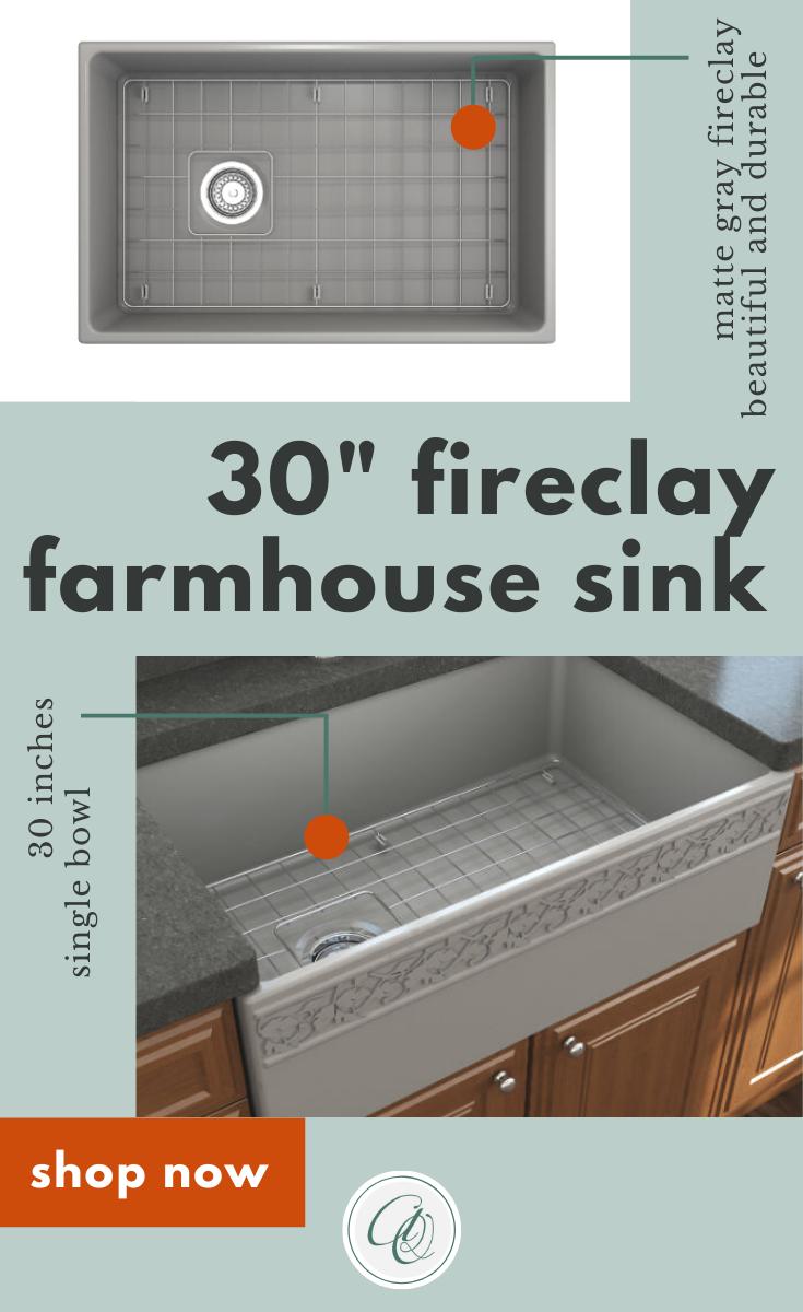 Vigneto 30 Matte Gray Fireclay Single Bowl Farmhouse Kitchen Sink With Grid By Bocchi Farmhouse Sink Kitchen Farmhouse Sink Farmhouse Sink Installation